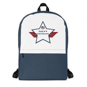 Navy Navy Blue and White Mid-sized Activity Backpack