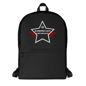 American Veteran Solid Black Mid-sized Activity Backpack