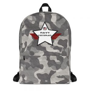 Navy Black and White Camouflage Mid-sized Activity Backpack