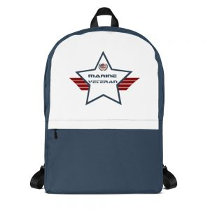 Marine Navy and White Mid-sized Activity Backpack