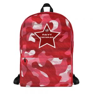 Navy Red Camoflauge Mid-sized Activity Backpack