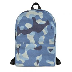 Camoflauge Navy Blue Mid-sized Activity Backpack