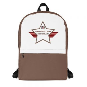 American Veteran Camo Brown & White Mid-sized Activity Backpack