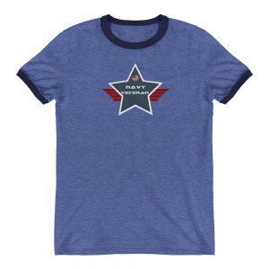 Navy Lightweight Ringer T-shirt with Navy Shield
