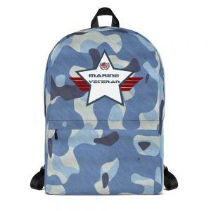 Marine Camouflage Navy Blue and White Mid-sized Camoflauge Activity Backpack