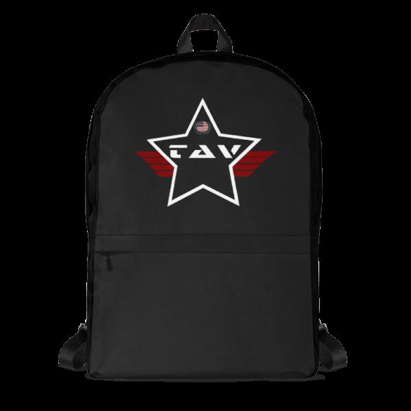 TAV Solid Black Mid-sized Activity Backpack