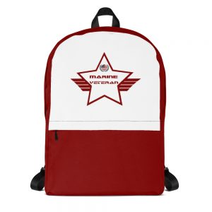 Marine Red and White Mid-sized Activity Backpack