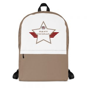 Navy Desert Brown and White Mid-sized Activity Backpack
