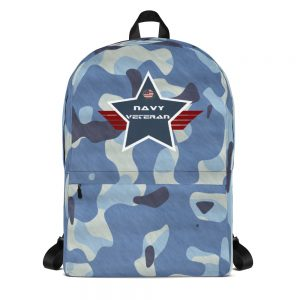 Navy Camoflauge Navy Blue Mid-sized Activity Backpack