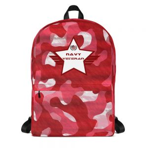 Navy Red and White Camoflauge Mid-sized Activity Backpack