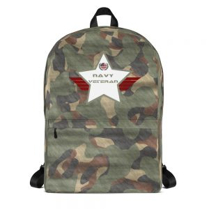 Navy Green and White Camouflage Mid-sized Activity Backpack