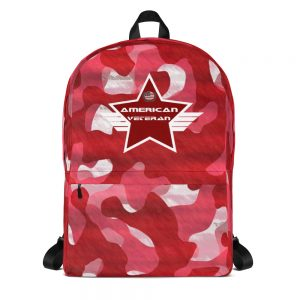 American Veteran Camoflauge Red Mid-sized Activity Backpack