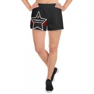Women's Athletic Short Shorts - Black AV Shield