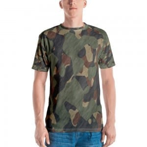 Mens Green Camo Crewneck T-Shirt