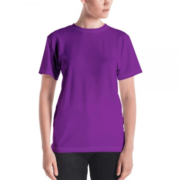Women's Purple Crewneck T-Shirt