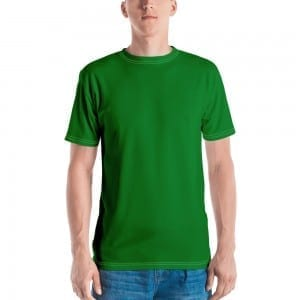 Men's Green Crewneck T-Shirt