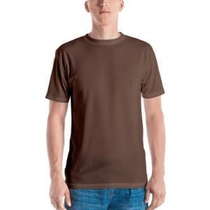 Mens Camo Brown Crewneck T-Shirt