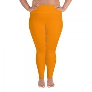 Women Orange Plus-size Leggings