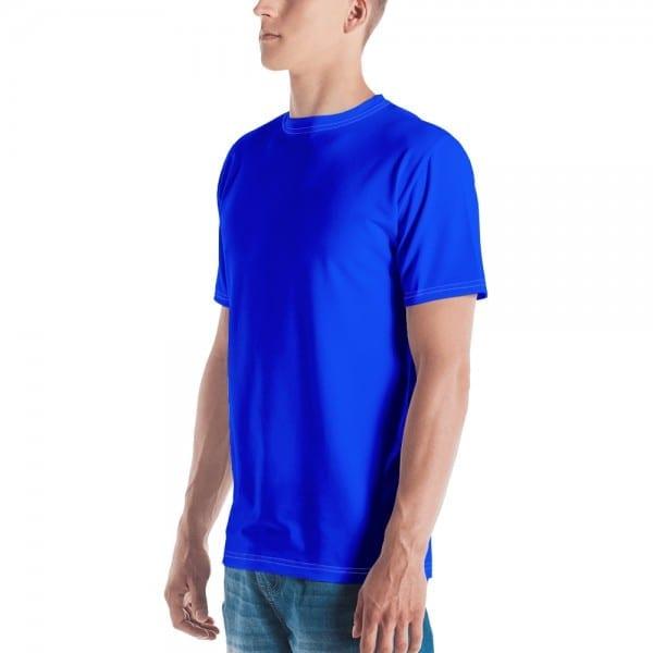 Men's Blue Crewneck T-Shirt