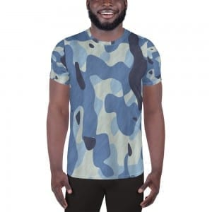 Men's Blue Camo Performance T-Shirt