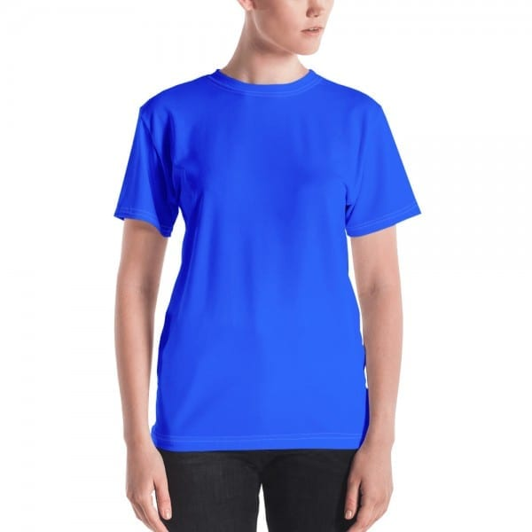 Women's Blue Crewneck T-Shirt