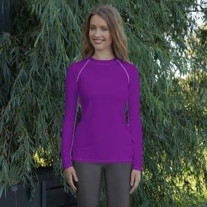 Women's Purple Rash Guard