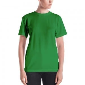 Women's Green Crewneck T-Shirt