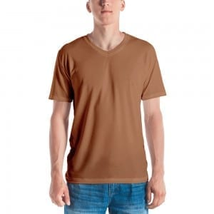 Men's Skintone V-Neck T-Shirt - B8774F