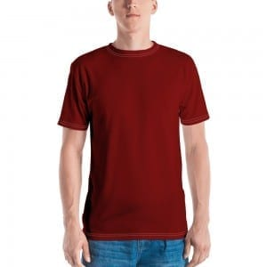 Mens Red Crewneck T-Shirt