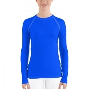 Women's Blue Rash Guard