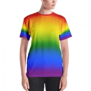 Women's LGBTQ Pride Rainbow Crewneck T-Shirt