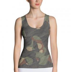 Women's Dark Camo Green Tank Top