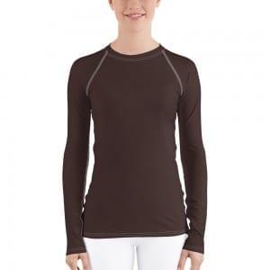 Women's Skin-tone Rash Guard - 3F2B2A