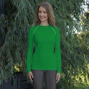 Women's Green Rash Guard