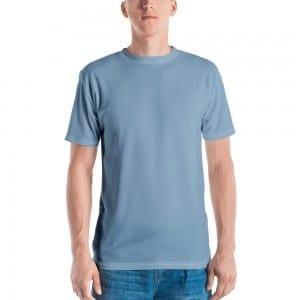 Mens Powder Blue Crewneck T-Shirt