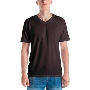 Men's Skintone V-Neck T-Shirt - 3F2B2A