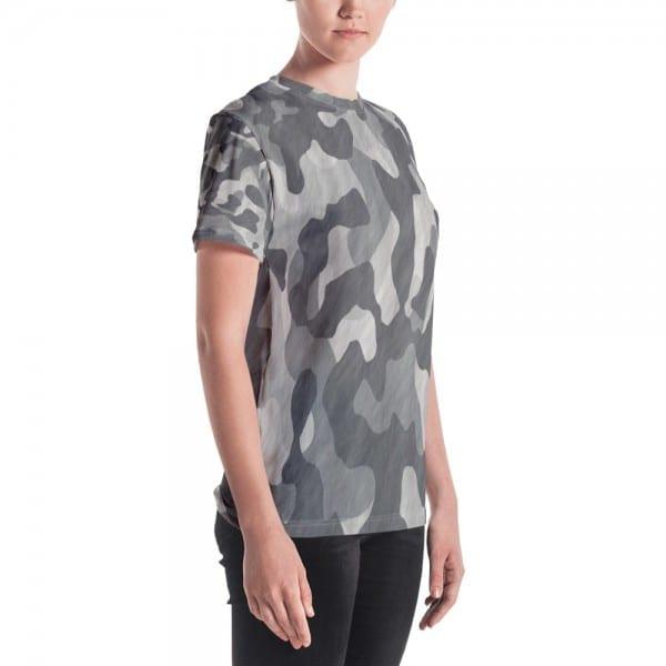 Women's Black Camo Crewneck T-Shirt