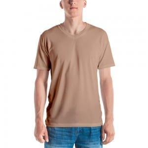 Men's Skintone V-Neck T-Shirt - D5A88B