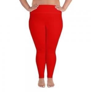 Women Red Plus-size Leggings