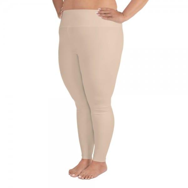 Women Skintone Plus-size Leggings - ECD0B8