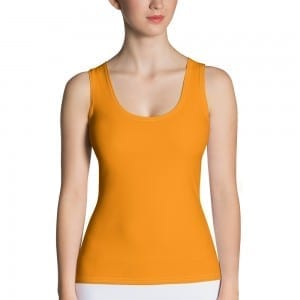 Women's Orange Tank Top