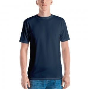 Mens Navy Blue Crewneck T-Shirt