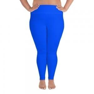 Women Blue Plus-size Leggings
