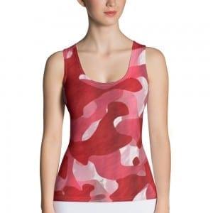 Women's Red Camo Tank Top