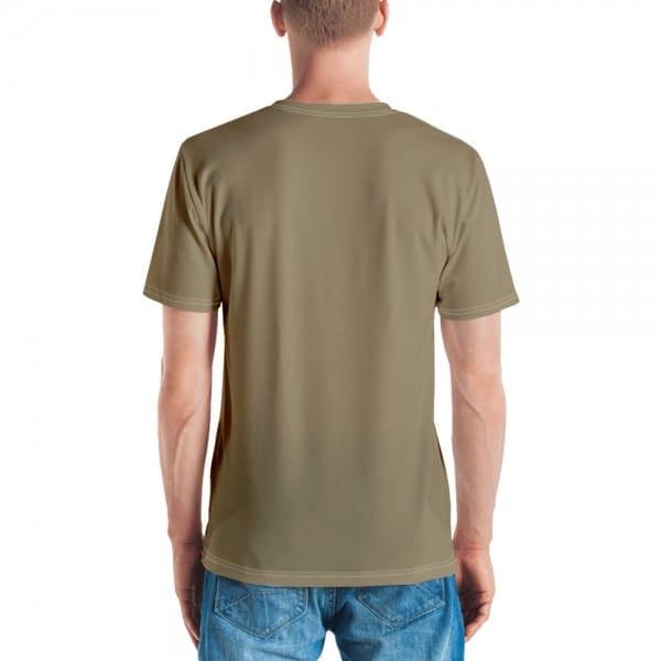 Mens Sand Brown Crewneck T-Shirt