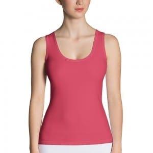 Women's Dark Pink Tank Top
