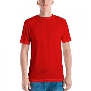 Men's Red Crewneck T-Shirt