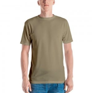 Mens Sand Brown Crewneck T-Shirt