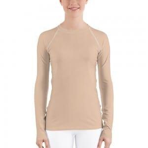 Women's Skin-tone Rash Guard - E7C5AC