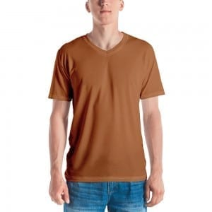 Men's Skintone V-Neck T-Shirt - B86C3A